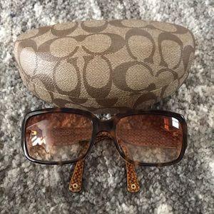 Coach Delphine Tortoise Sunglasses